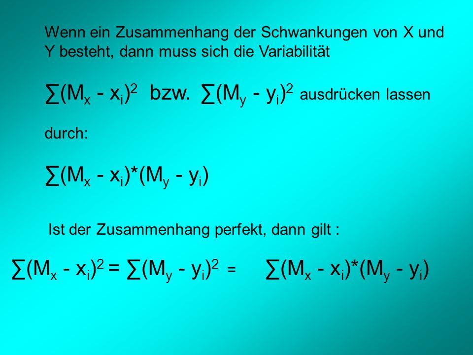 ∑(Mx - xi)2 bzw. ∑(My - yi)2 ausdrücken lassen