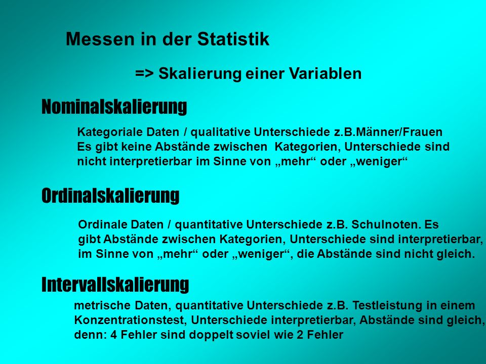 Messen in der Statistik