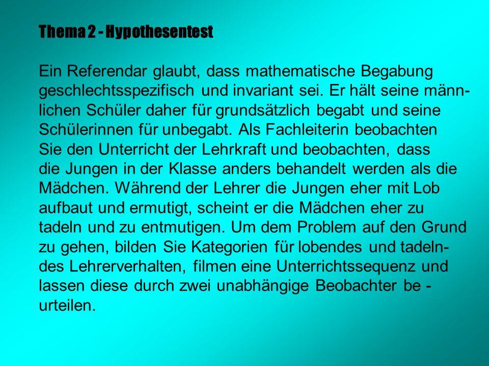 Thema 2 - Hypothesentest