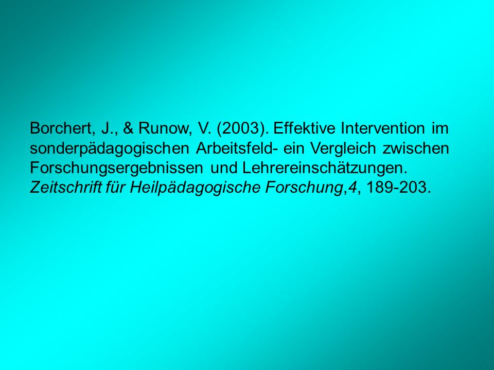Borchert, J., & Runow, V. (2003).