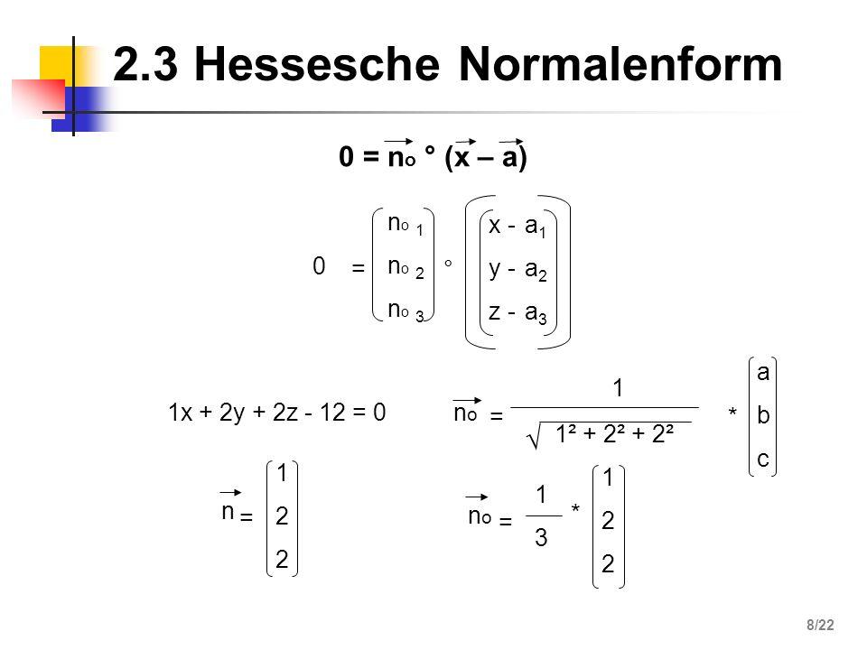 2.3 Hessesche Normalenform