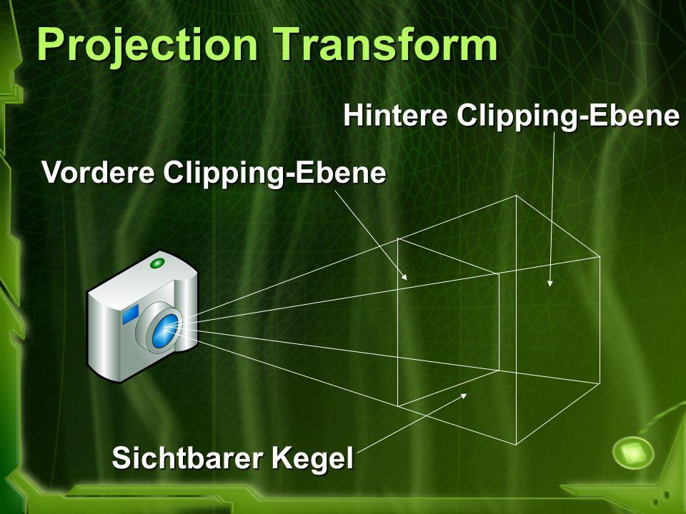 Projection Transform Hintere Clipping-Ebene Vordere Clipping-Ebene
