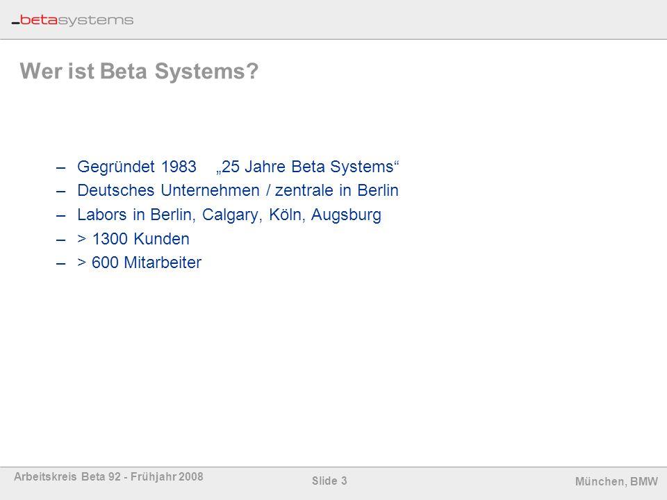 """Wer ist Beta Systems Gegründet 1983 """"25 Jahre Beta Systems"""