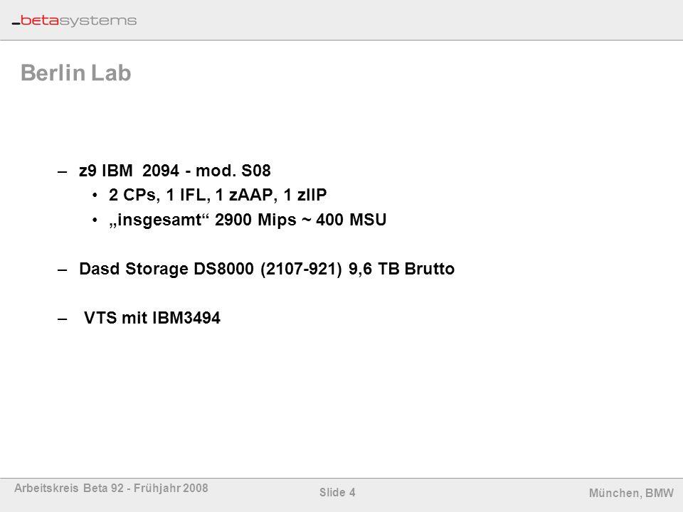 Berlin Lab z9 IBM 2094 - mod. S08 2 CPs, 1 IFL, 1 zAAP, 1 zIIP