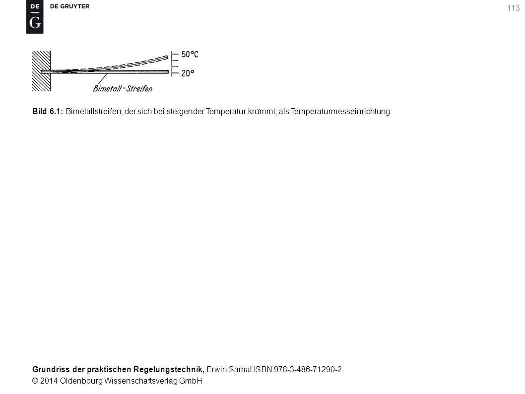 Bild 6.1: Bimetallstreifen, der sich bei steigender Temperatur krümmt, als Temperaturmesseinrichtung.