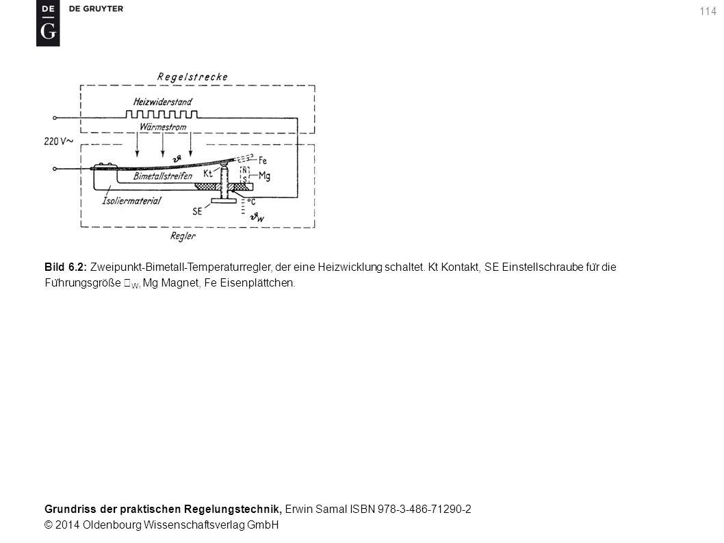 Bild 6.2: Zweipunkt-Bimetall-Temperaturregler, der eine Heizwicklung schaltet.