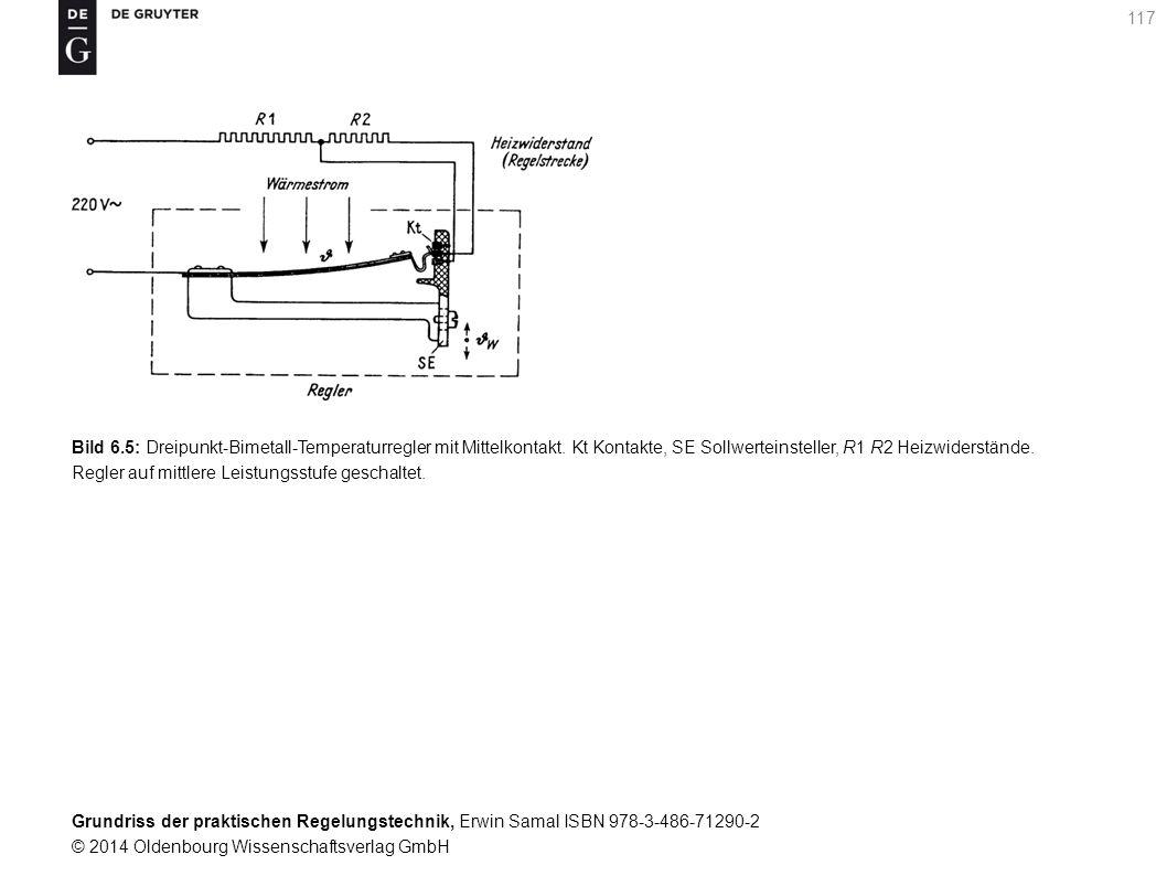 Bild 6. 5: Dreipunkt-Bimetall-Temperaturregler mit Mittelkontakt