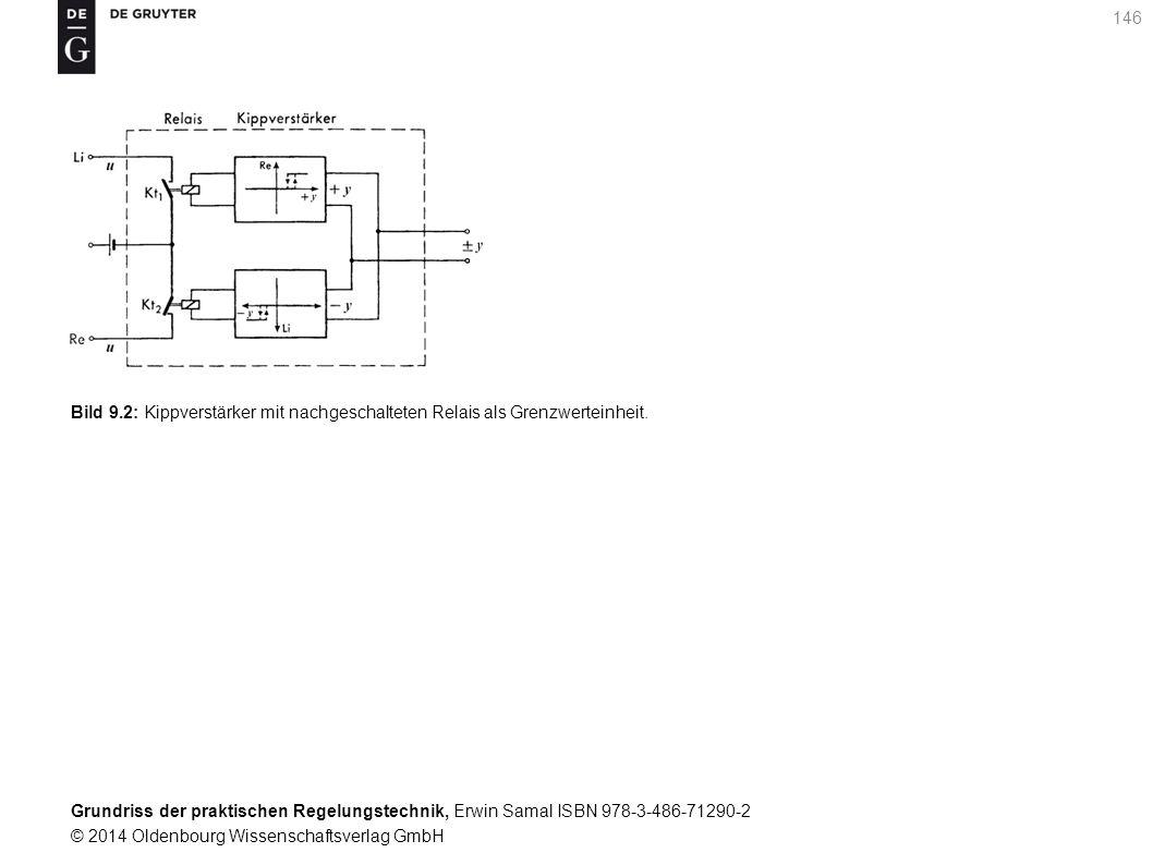 Bild 9.2: Kippverstärker mit nachgeschalteten Relais als Grenzwerteinheit.