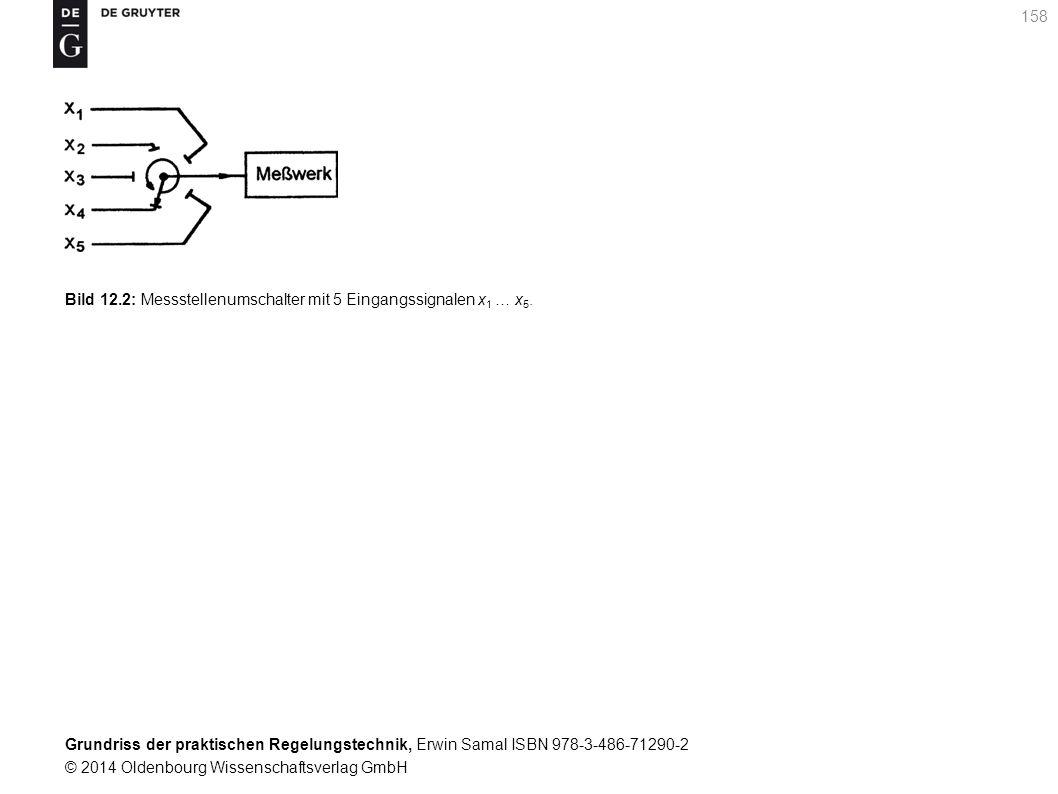 Bild 12.2: Messstellenumschalter mit 5 Eingangssignalen x1 … x5.