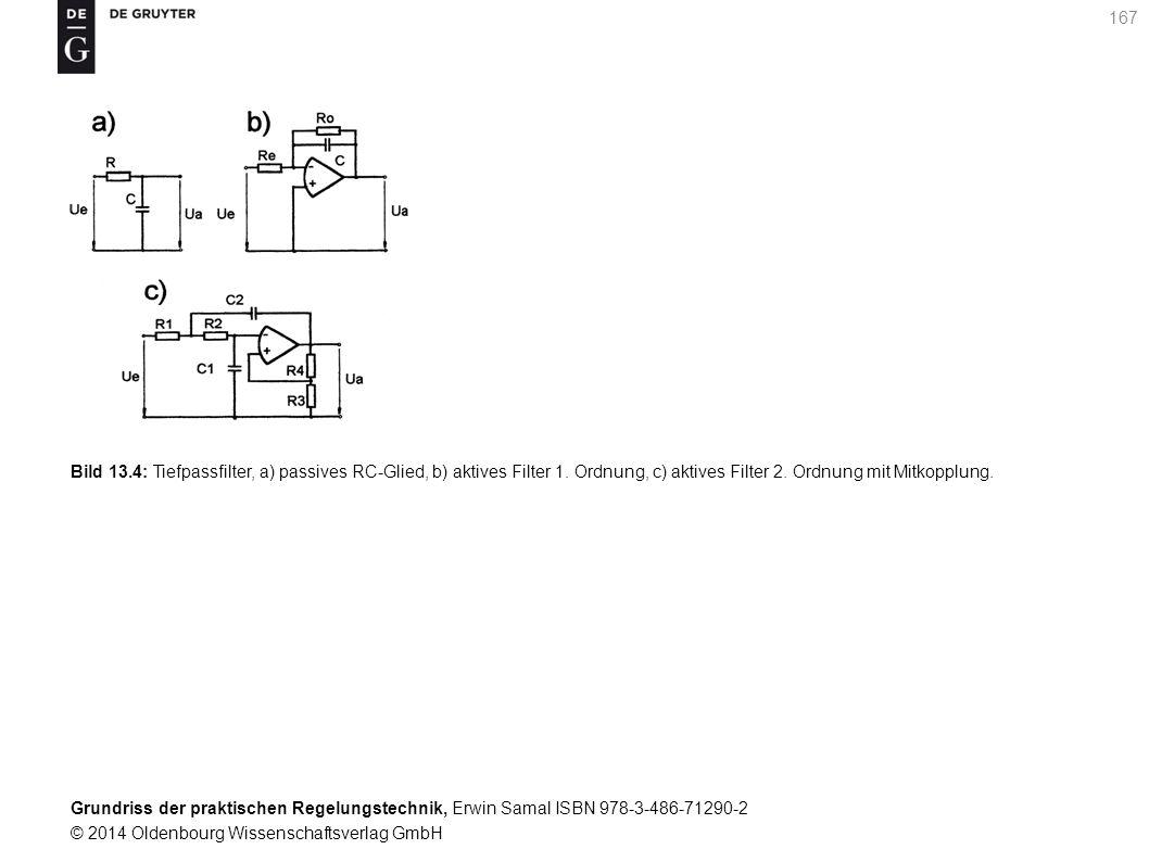 Bild 13. 4: Tiefpassfilter, a) passives RC-Glied, b) aktives Filter 1