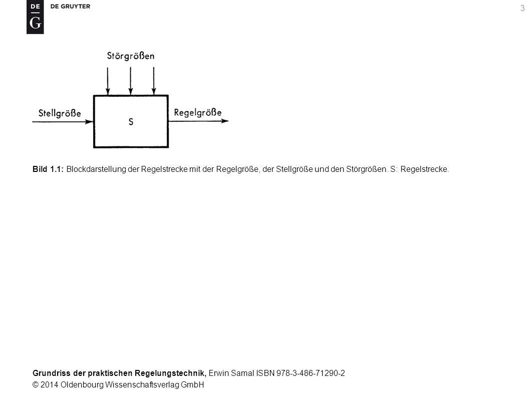Bild 1.1: Blockdarstellung der Regelstrecke mit der Regelgröße, der Stellgröße und den Störgrößen.
