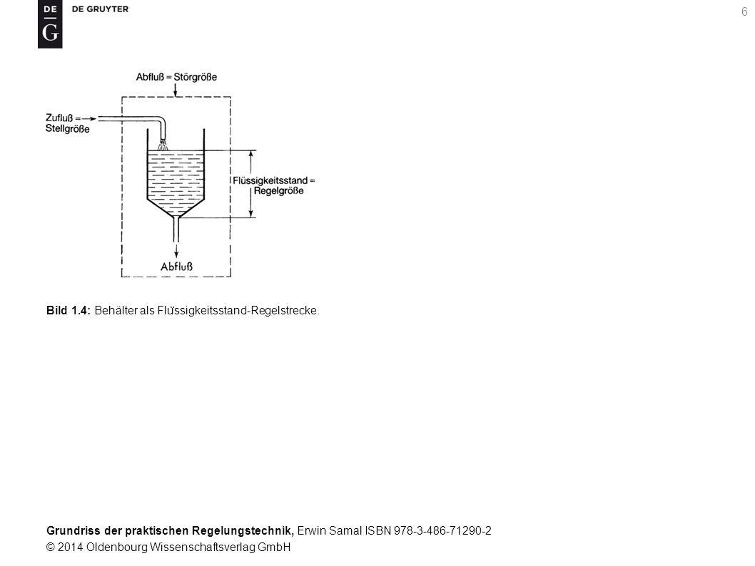 Bild 1.4: Behälter als Flüssigkeitsstand-Regelstrecke.
