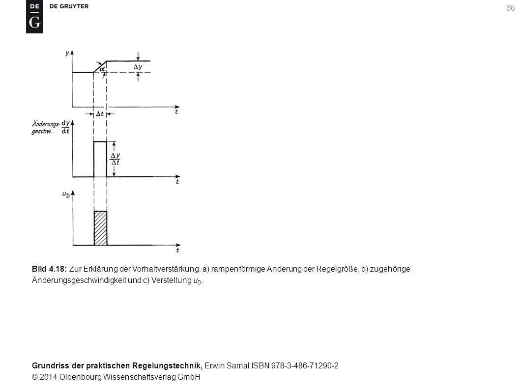 Bild 4. 18: Zur Erklärung der Vorhaltverstärkung