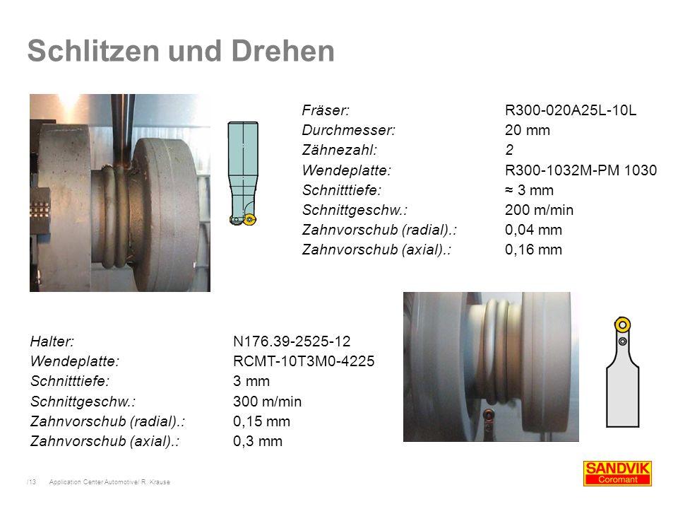 Schlitzen und Drehen Fräser: R300-020A25L-10L Durchmesser: 20 mm