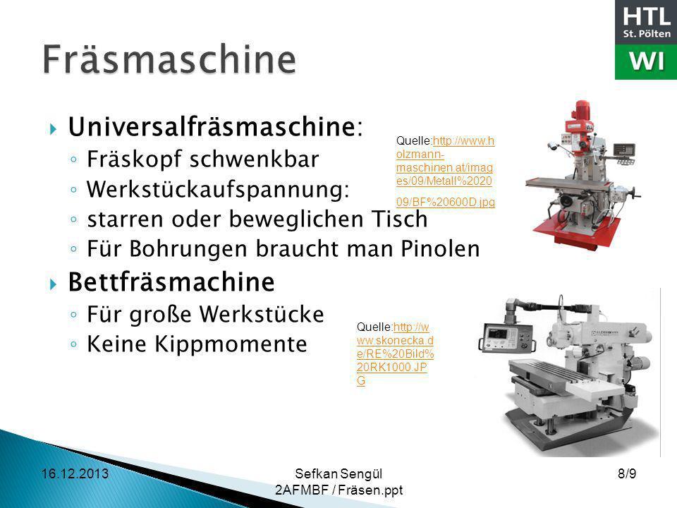 Fräsmaschine Universalfräsmaschine: Bettfräsmachine