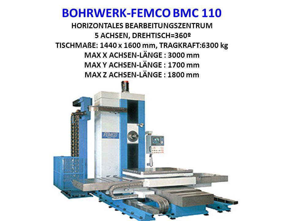 BOHRWERK-FEMCO BMC 110 HORIZONTALES BEARBEITUNGSZENTRUM