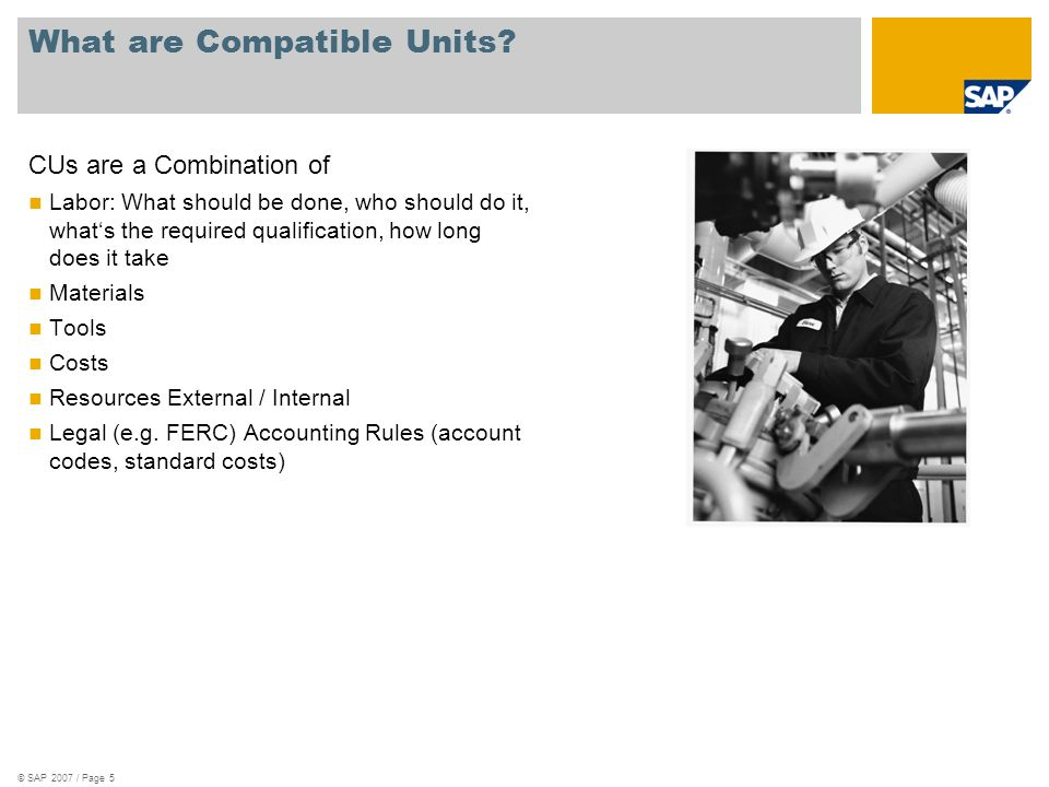 What are Compatible Units