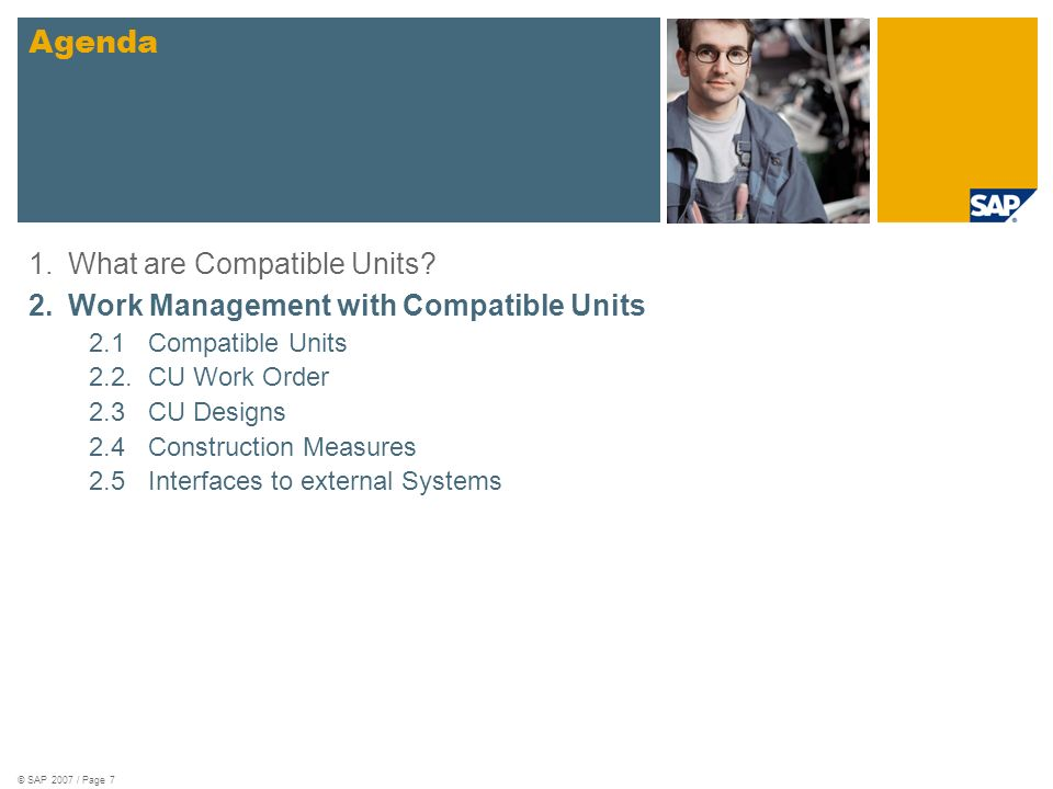 Agenda 1. What are Compatible Units