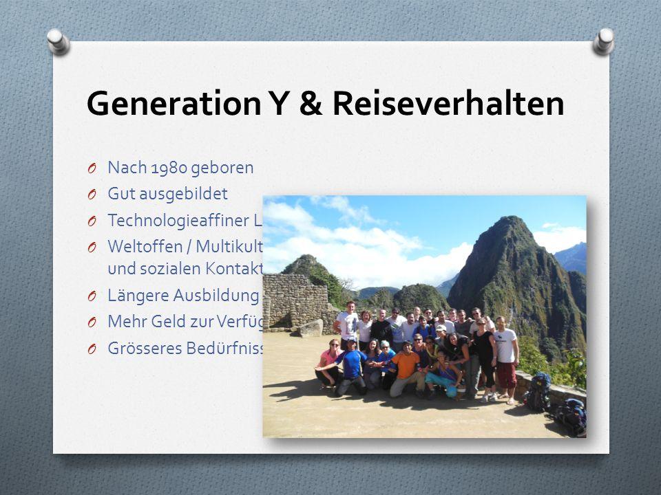 Generation Y & Reiseverhalten