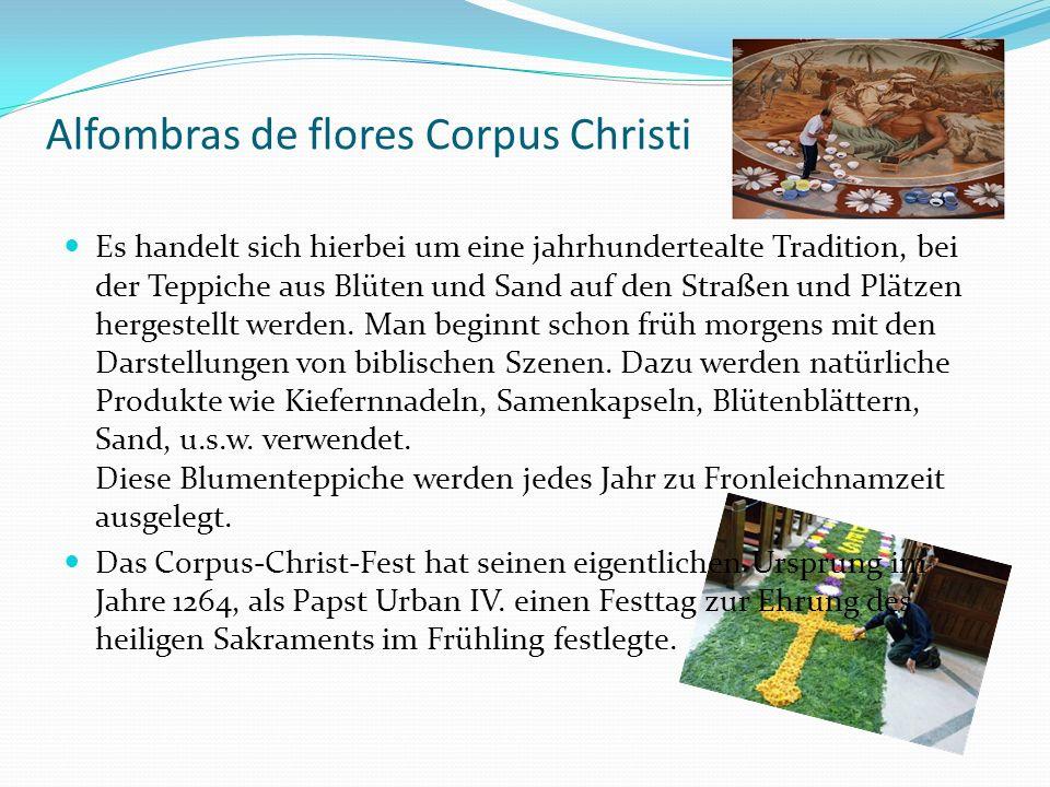 Alfombras de flores Corpus Christi