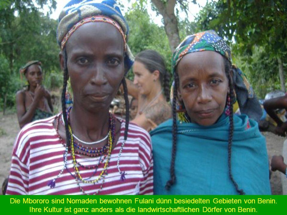 Die Mbororo sind Nomaden bewohnen Fulani dünn besiedelten Gebieten von Benin.