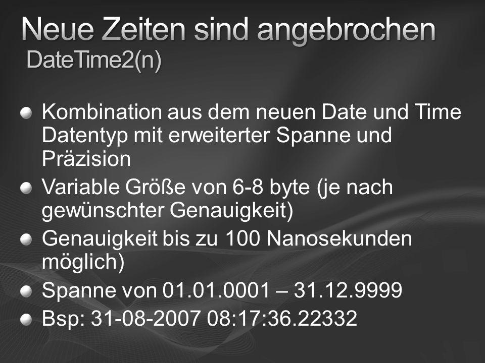 Neue Zeiten sind angebrochen DateTime2(n)