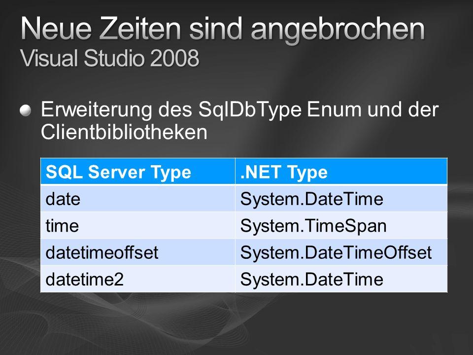 Neue Zeiten sind angebrochen Visual Studio 2008