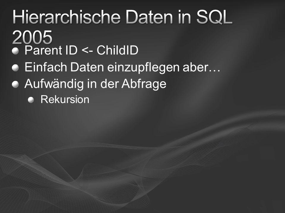 Hierarchische Daten in SQL 2005