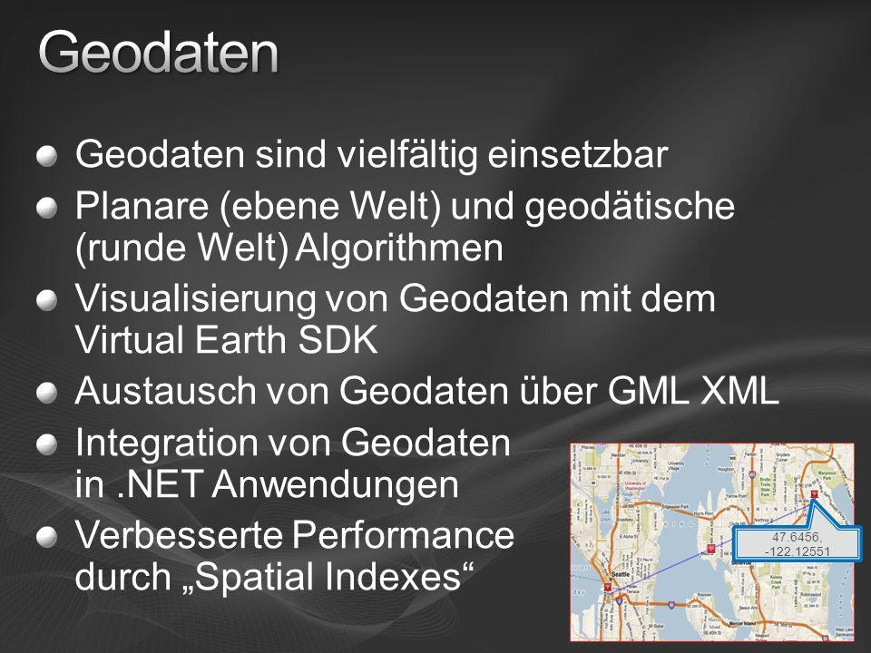 Geodaten Geodaten sind vielfältig einsetzbar