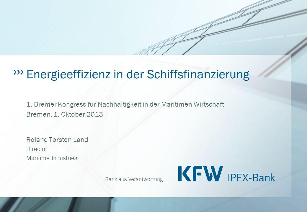 Energieeffizienz in der Schiffsfinanzierung