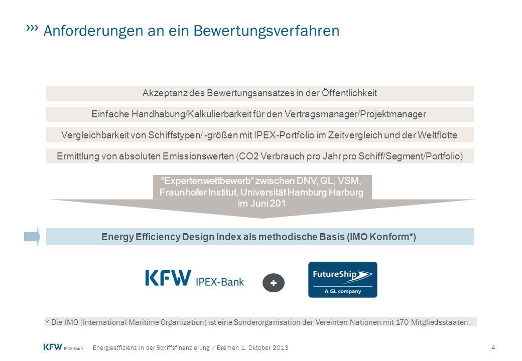Energy Efficiency Design Index als methodische Basis (IMO Konform*)