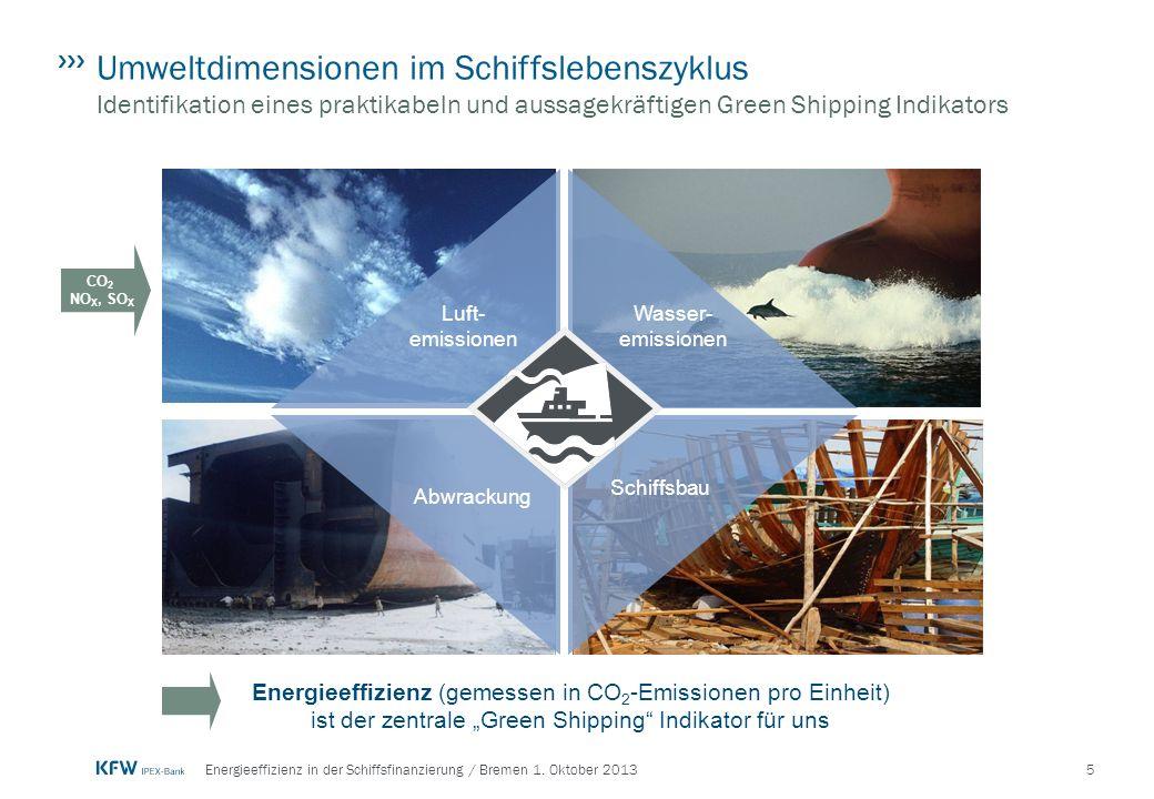 Umweltdimensionen im Schiffslebenszyklus Identifikation eines praktikabeln und aussagekräftigen Green Shipping Indikators
