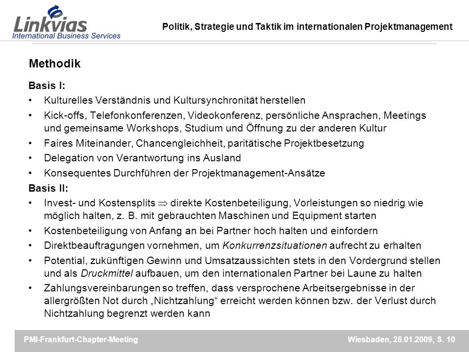Methodik Basis I: Kulturelles Verständnis und Kultursynchronität herstellen.