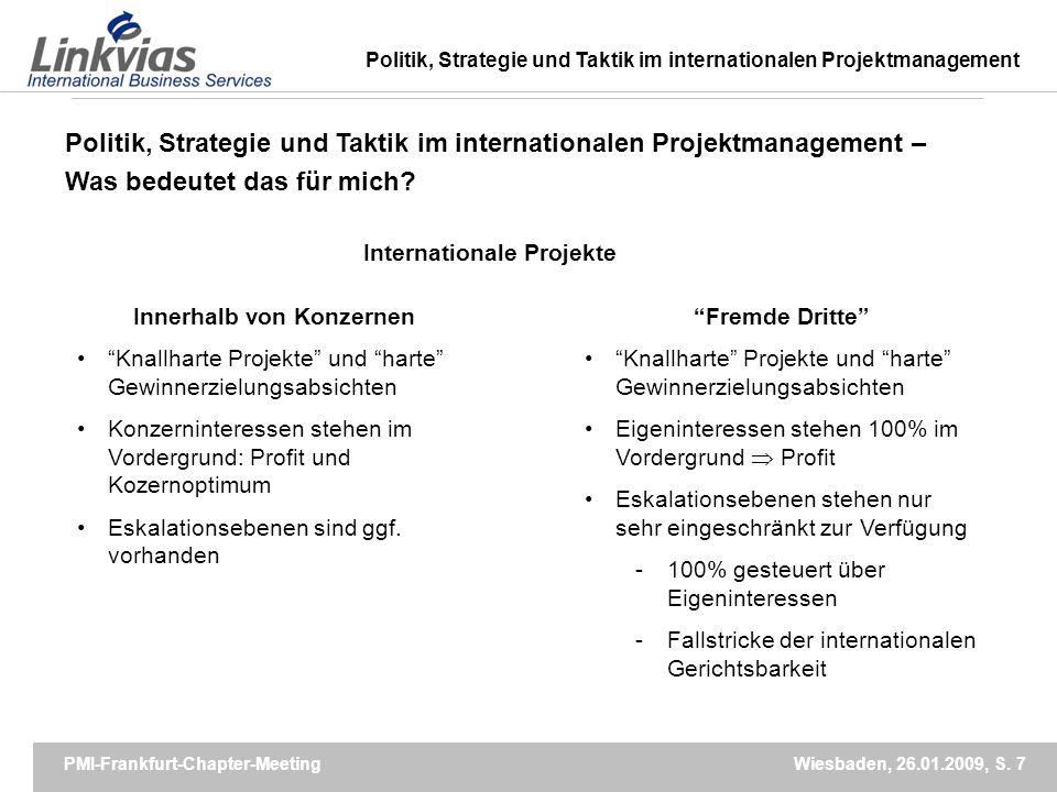 Internationale Projekte Innerhalb von Konzernen