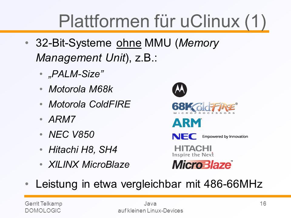Plattformen für uClinux (1)