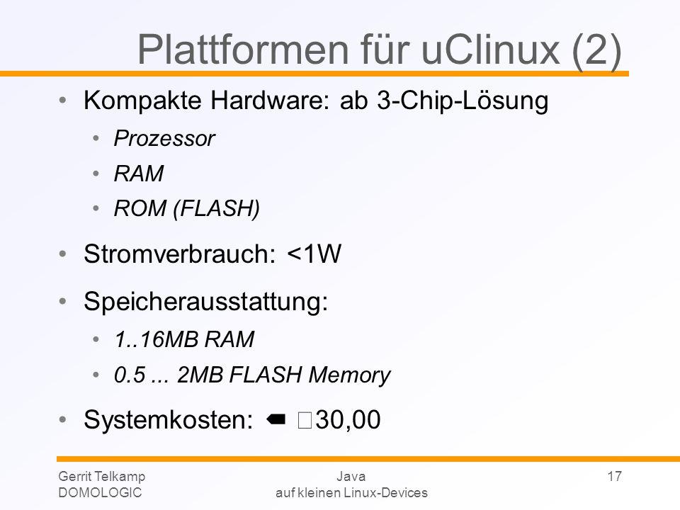 Plattformen für uClinux (2)