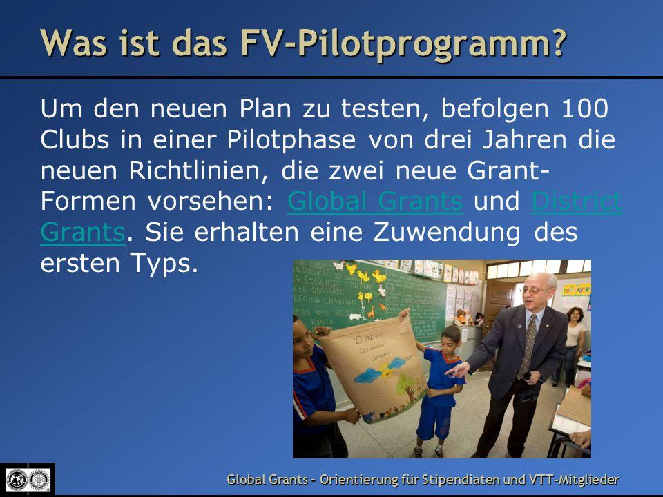 Was ist das FV-Pilotprogramm