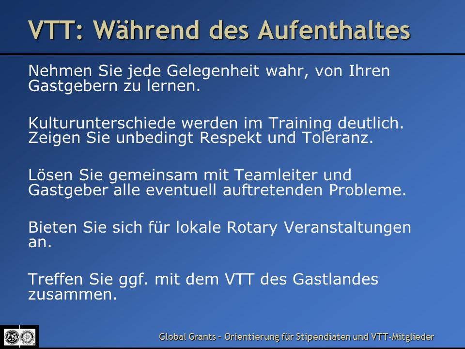VTT: Während des Aufenthaltes