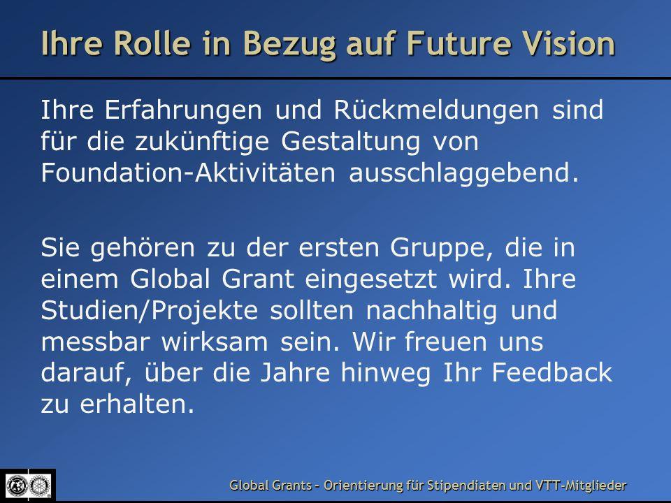 Ihre Rolle in Bezug auf Future Vision