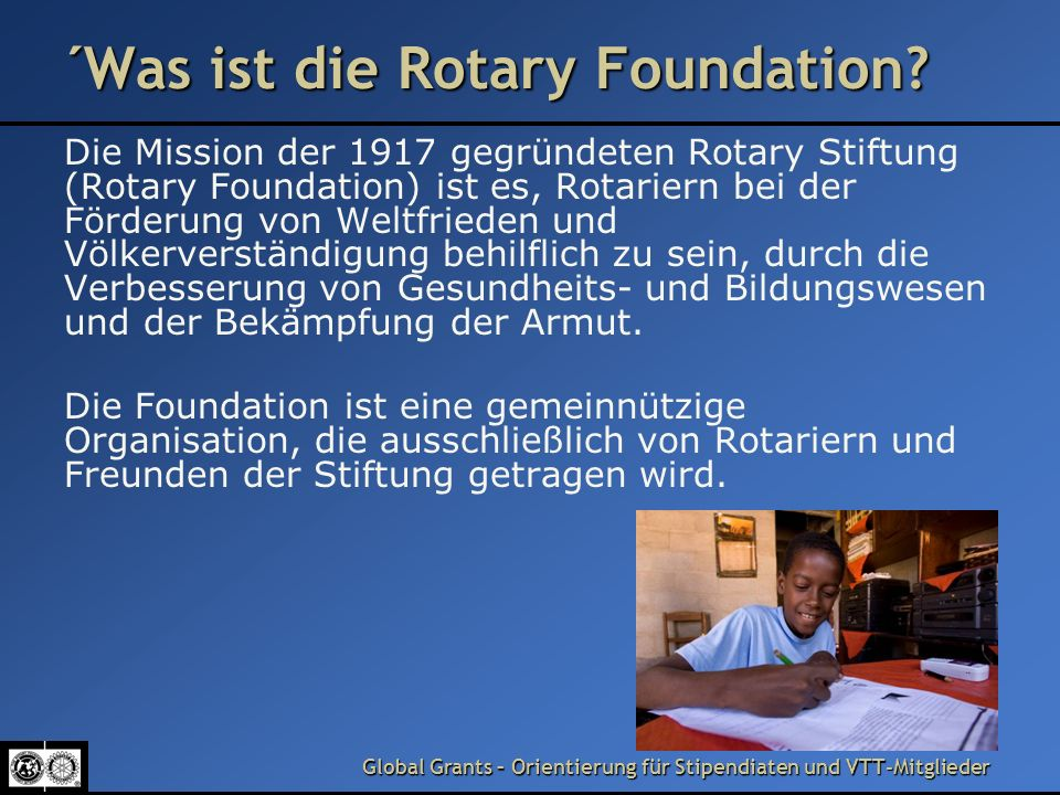 ´Was ist die Rotary Foundation