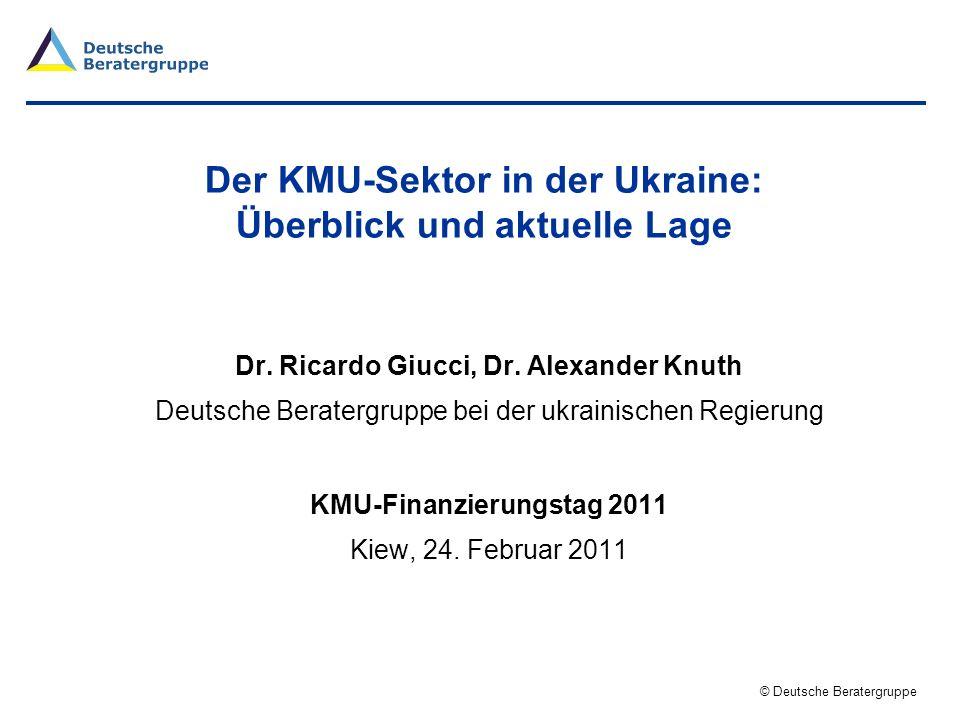 Der KMU-Sektor in der Ukraine: Überblick und aktuelle Lage