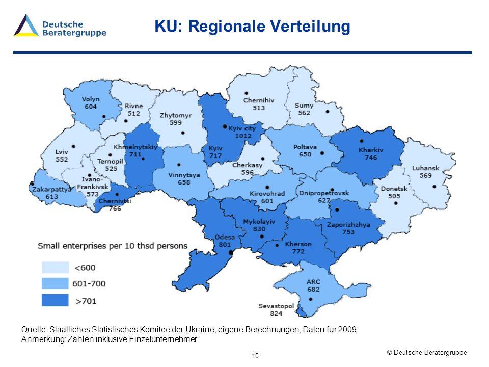KU: Regionale Verteilung