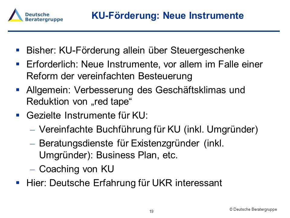 KU-Förderung: Neue Instrumente