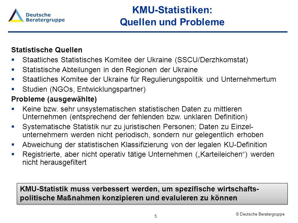 KMU-Statistiken: Quellen und Probleme