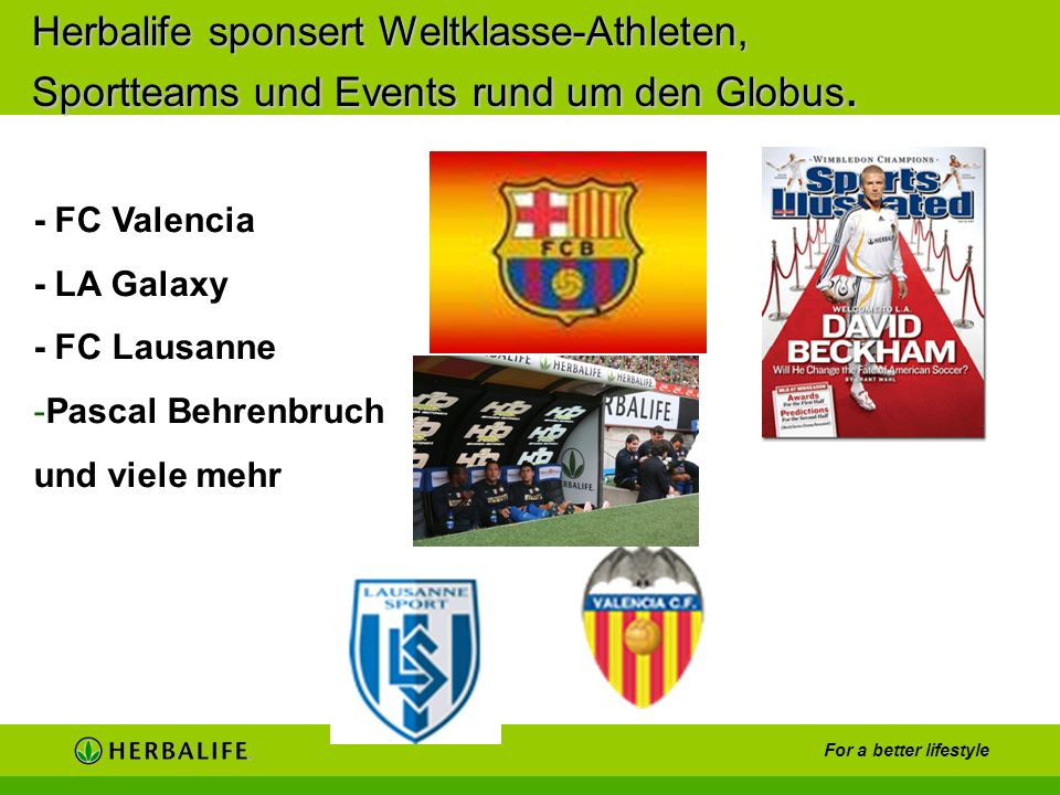 Herbalife sponsert Weltklasse-Athleten, Sportteams und Events rund um den Globus.