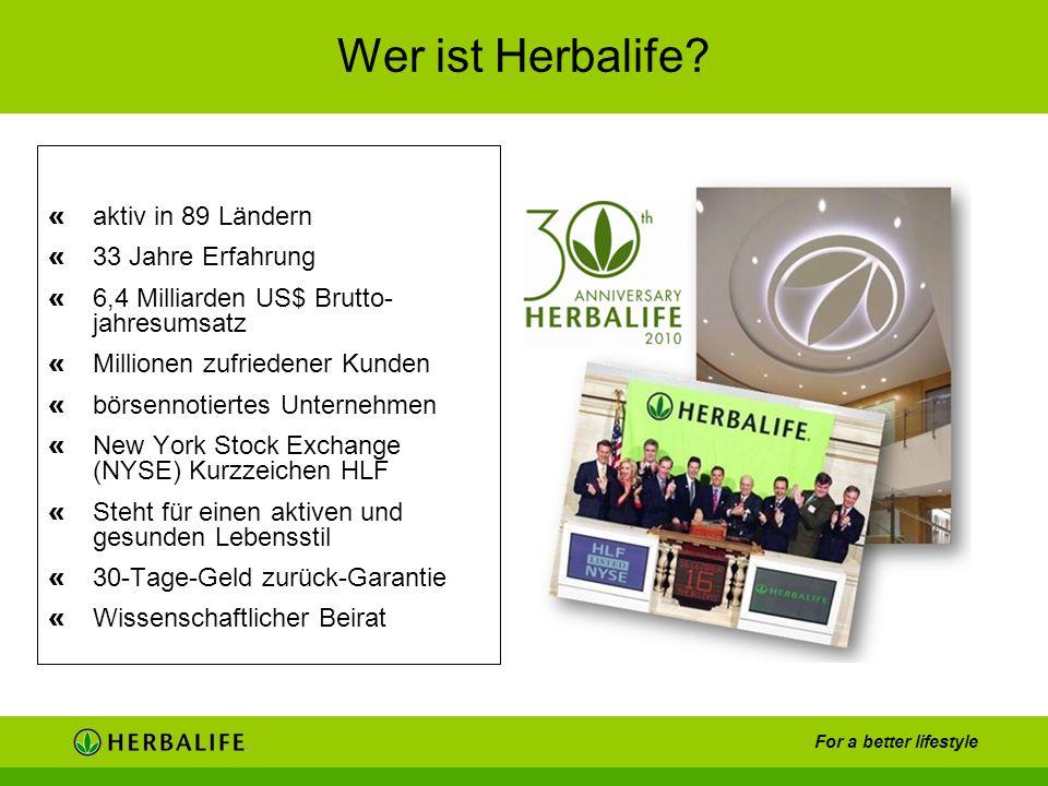 Wer ist Herbalife aktiv in 89 Ländern 33 Jahre Erfahrung