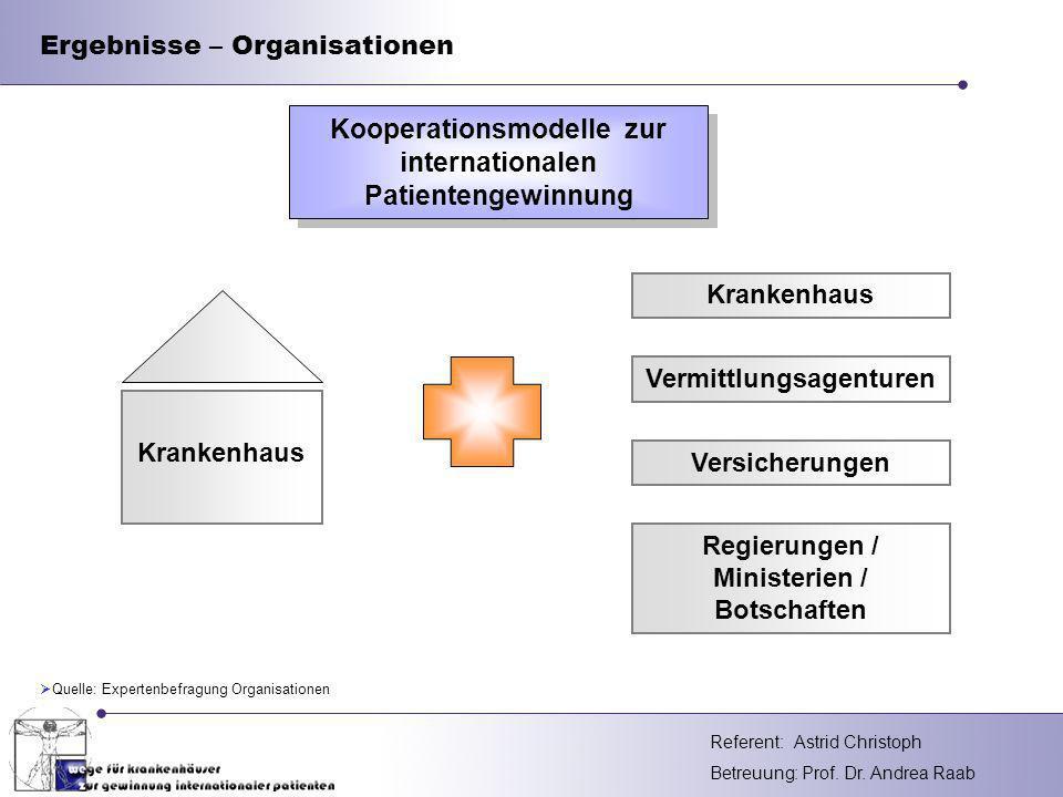 Ergebnisse – Organisationen