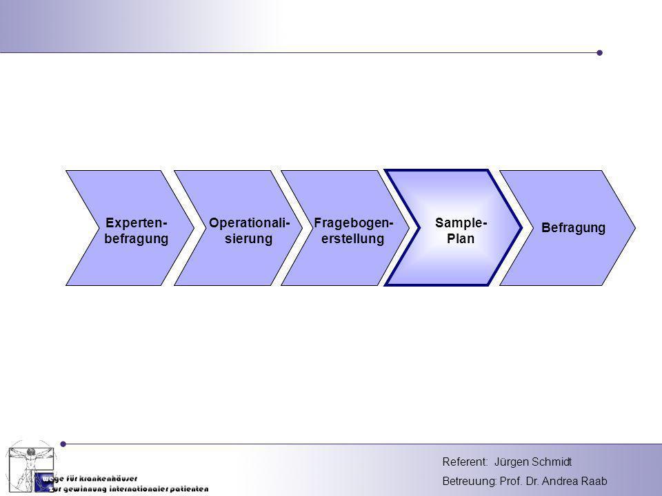 Experten- befragung Operationali- sierung Fragebogen- erstellung