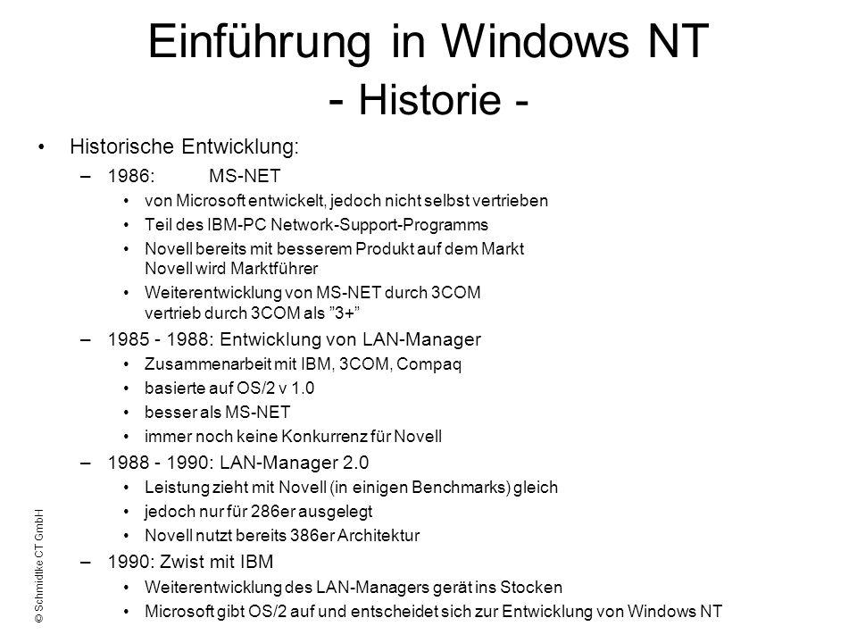 Einführung in Windows NT - Historie -
