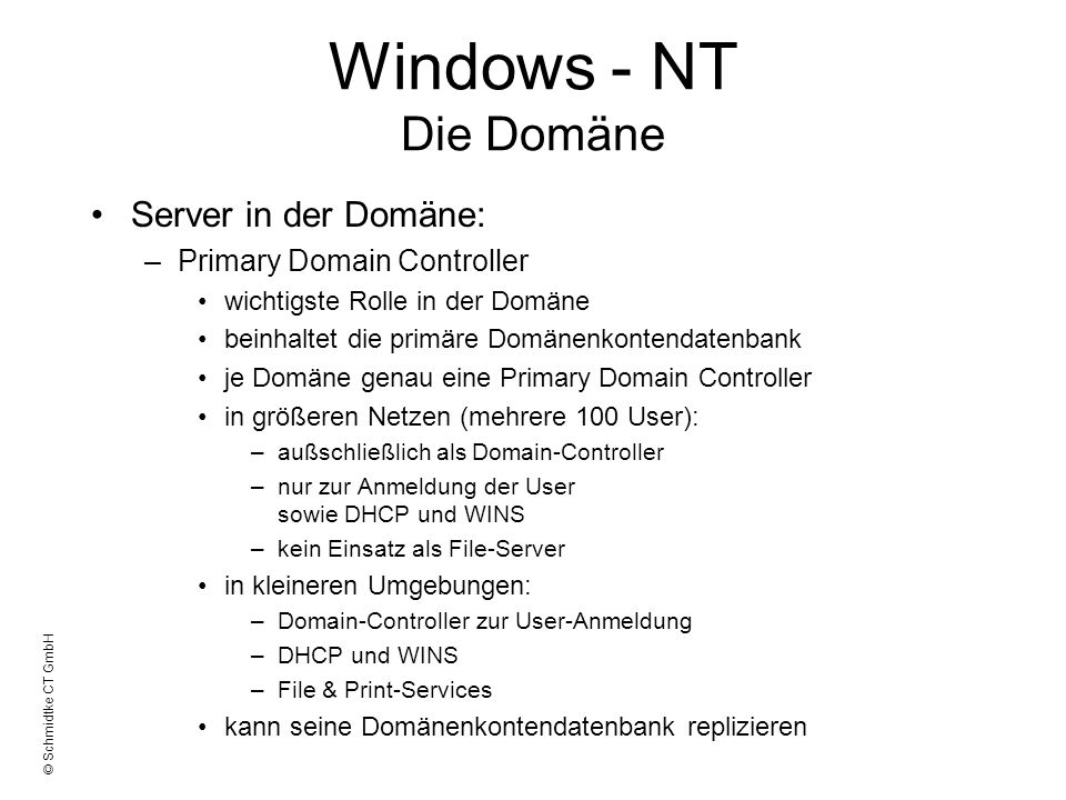 Foliensammlung: Windows NT